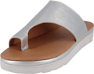 CCZZ Women Summer Wedges Platform Sandals Stylish Thong Flip Flops Ultra Comfort Slippers Toe Loop Flat Sandals