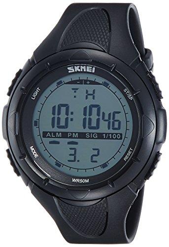 SKMEI Analog-Digital Green Dial Men's Watch - DG1025 (Gent Size BLK)