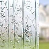 LMKJ Kristall Bambus Film Fenster Privatsphäre Film elektrostatische Glas Aufkleber frei Kleber Küche Bad Büro Tür & Fenster Aufkleber Home Film B41 45x200cm