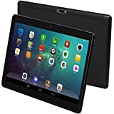 """10 Inch Android 9.0 Tablet with Sim Card Slot - 10"""" 3G Unlocked GSM Phone Call Tablets Octa Core 4GB RAM 64GB ROM Built in GPS WiFi OTG Camera (Black)"""