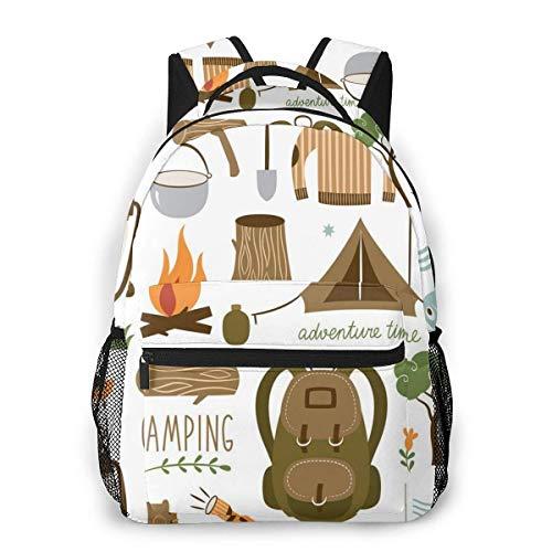 Lawenp Mochilas Escolares Equipo para Acampar Saco de Dormir Botas Campfire Shovel...