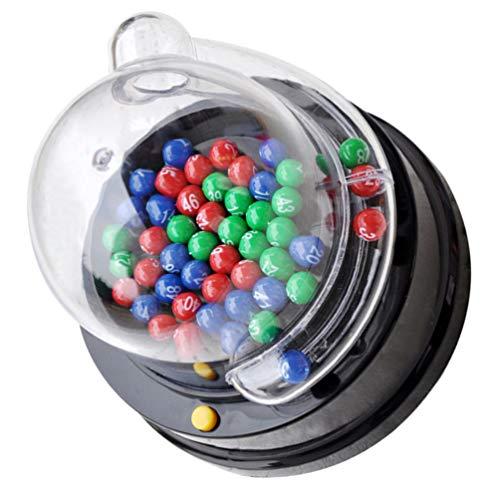 TOYMYTOY Juego de Lotto de Bingo Máquina de Chicles Máquina de Premios Número Afortunado Juegos de Mesa para La Familia