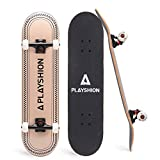 Playshion 31 Inch Trick Skateboard Complete for Kids and Adults Beginners Simple