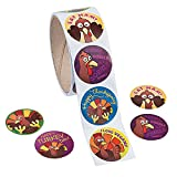 Funny Thanksgiving Stickers - 100 pcs/roll