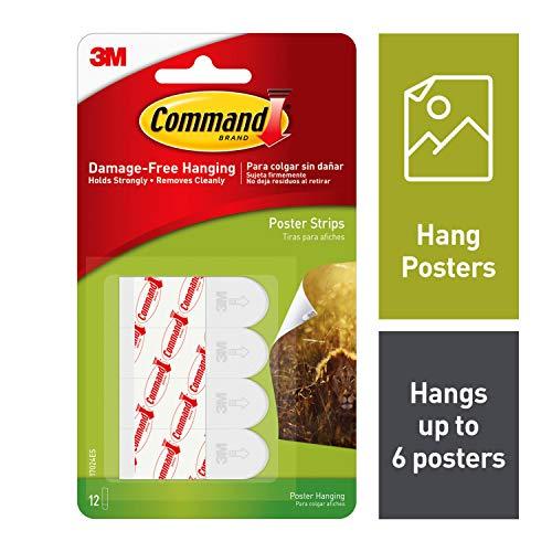 Command Klebestreifen zum Aufhängen von Postern, weiß, 72 Strips