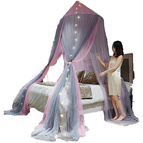 SOYYD Mosquito Net for Bed Canopy Extra Large Tent for Double To King Size Finest Holes Square Netting Curtain 3 Entries Easy To Install Hanging Kit Storage Bag No Chemicals,Style 2