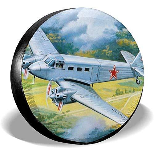 XZfly Retro Vliegtuig Schilderij Reservebanden, Universele Wielbandbeschermers, Reisauto Weerbestendige Accessoires