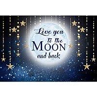 DORCEV 10 x 6.5フィート Love You to The Moon and Back 写真背景 子供 大人 誕生日パーティー 背景 星空 輝く星空 空 恋人 大人 結婚式 写真 ビデオ スタジオ 小道具
