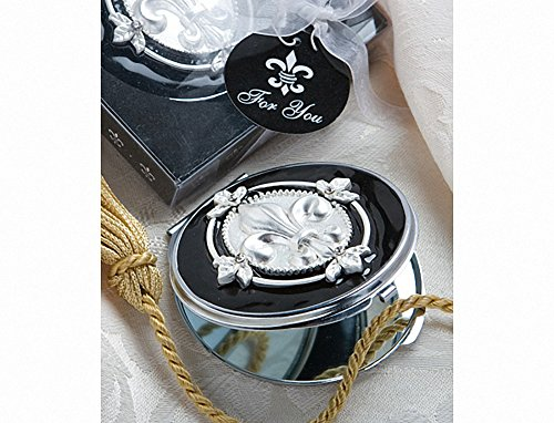 Elegant Reflections Collection Fleur Di Lis Mirror Compacts, 1