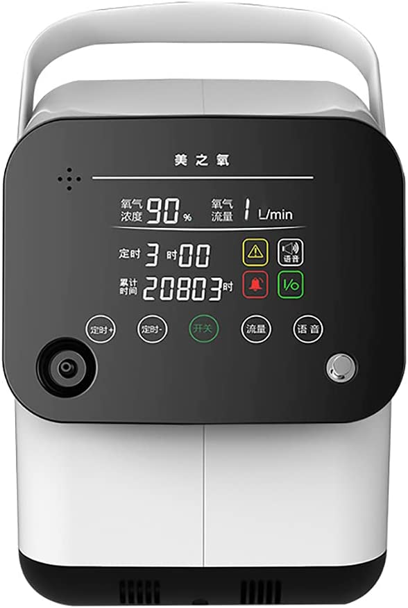 ZHD&CC Concentrador De Oxígeno, Máquina De Oxígeno Portátil Ajustable De 1-6L / Min para Uso Doméstico Y De Viaje