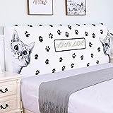 PEIRUK Funda para cabecero de cama elástica moderna Nordic todo incluida, funda de cabecero doble para cama de matrimonio de 200 cm de largo