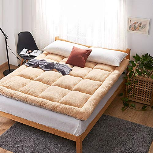 WZF Futon Tatami mattress cover mat, dormitory folding mat Japanese bed-A 150x200cm (59x79inches)