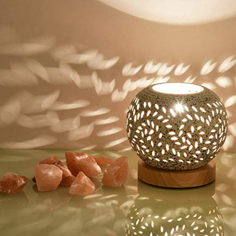 Crystal Salt Tischlampe Himalayan Night Light Koreanische Studie zum Strahlenschutz Keramik Tischleuchte Warmes Schlafzimmer Nachttischlampe Kreative Beleuchtungskrper Hhe  14 cm (Farbe  B)