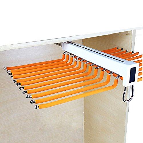 """LUANT Closet Arm Pants Hanger Bar Clothes Organizers with 22 Arms for Space Saving and Storage,24-2/5"""" x 18"""""""