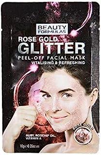 قناع الوجه جليتر روز جولد قابل للتقشير من بيوتي فورميلاز، 10 غرام