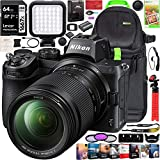 Nikon Z5 Mirrorless Full Frame Camera Body with 24-200mm f/4-6.3 VR Lens Kit FX-Format 4K UHD Bundle with Deco Gear Photography Backpack + Photo Video LED Light + 64GB Card + Software and Accessories