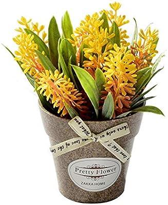 Plantas Artificiales Pl/ásticas Flor Maceta Decorativas para La Decoraci/ón Casera y de Oficina