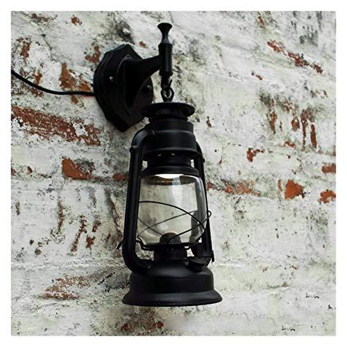 Luces al aire libre Lámpara de pared LED retro plástico keroseno de la vendimia Lámparas de luz Fixture for Bar Cafetería Baño Lámparas de pared luces pendientes para jardín, pórtico de patio