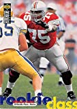 Orlando Pace football card (Ohio State Buckeyes) 1997 Upper Deck #ST8 Rookie Class. rookie card picture