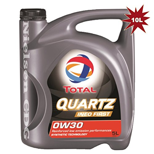 Total Quartz Ineo First 0W30completamente sintetico olio motore–2x litri = 10litri