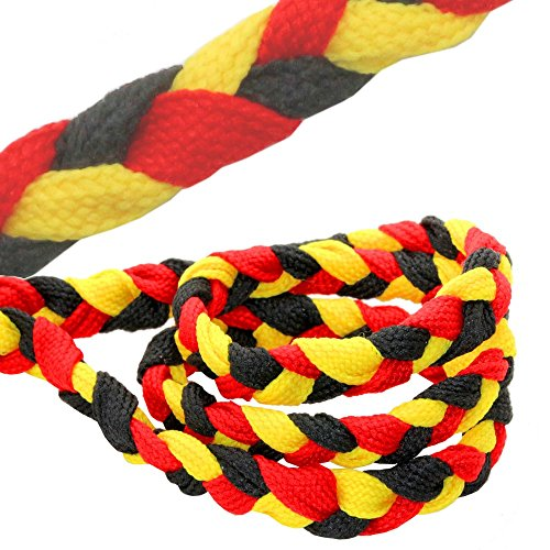 tumundo Set Fußball Fan-Artikel Deutschland Fahne WM EM 2016 Armband Haarband Ohrringe Fake Plug Creolen Krawatte, Variante:Mod 2 - Armband