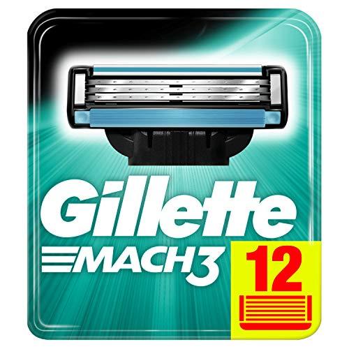 Gillette Mach3 12 Ersatzklingen für Rasierer, Maxi Format