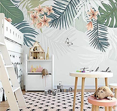 Palm Leaf Fresh Leaf Flowers Hintergrundbilder Wandbilder Tapete wandpapier fototapete 3d effekt tapeten Wohnzimmer Schlafzimmer kinderzimmer-350cm×256cm
