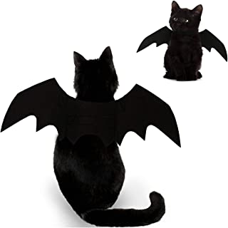 Feeke Cat Halloween Costume - Black Cat Bat Wings Cosplay - Pet Costumes Apparel for Cat Small Dogs Puppy for Cat Dress Up Accessories
