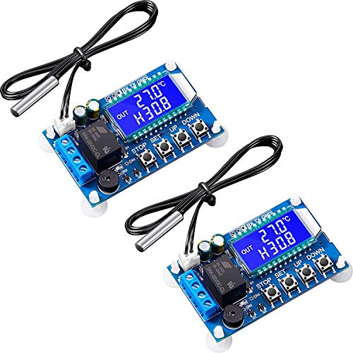 Nirmon Controlador de Temperatura ElectróNico XY-T01 de 2 Piezas, MóDulo de Control, Placas de Interruptores de Control de Temperatura de -50 Grados Celsius una 100 Grados Celsius