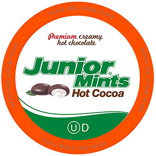 Junior Mints Hot Chocolate Pods, Mint Chcocolate Flavor, Compatible with Keurig K Cup Brewers, 40 Count - Perfect Peppermint Hot Chocolate Gift