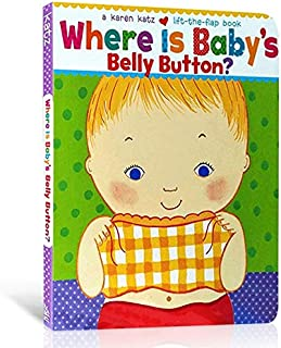 ST-JK-Where Is Baby's Belly Button By Karen Katz Learn English Picture Story Card board Book Kids Educational Toys for Chi...
