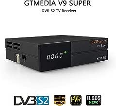 Docooler GTMEDIA V9 Super DVB-S2 Receptor de TV HD 1080P Receptor de TV Digital Receptor de transmisión de Video Digital Soporte WiFi Incorporado H.265