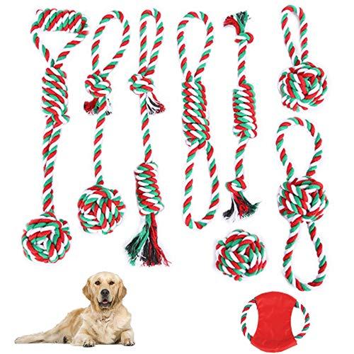 YBBT Hundespielzeug,9 Stück Langlebiges Hundeseilspielzeug,Hundekauspielzeug Verwenden Sie hochwertige Materialien,unzerstörbares interaktives Hundespielzeug,geeignet für kleine,mittlere,große Hunde