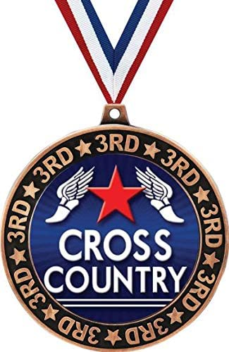 Cross Country 3rd Place Perimeter Running Quantity limited Bronze Medal Pr 2.75