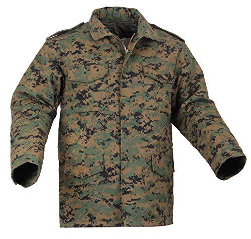 Rothco Camo M-65 Field Jacket, Woodland Digital Camo, L