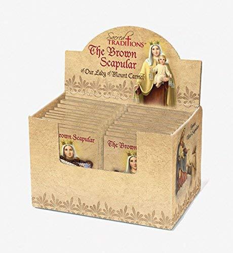 Christian Brands Catholic Brown Wool Scapular Display