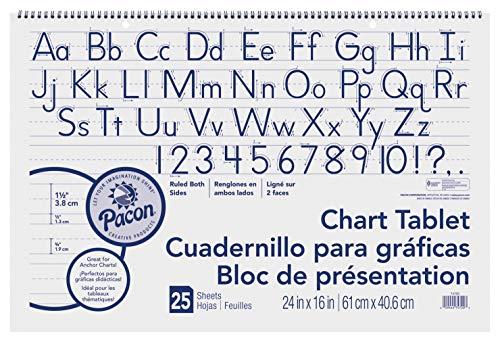 Pacon Chart Tablet, Manuscript Cvr., 1-1/2