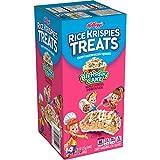 Kellogg's Rice Krispies Treats, Crispy Marshmallow Squares, Birthday Cake, 10.9oz Box (14 ...