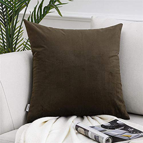 ZHANGDA Soft Solid Velvet Pillow Cases Cushion Cover Square Decorative Pillow Covers For Sofa Bed Car Home Throw Pillows,14,45Cmx45Cm(18X18In)