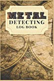 """Metal Detecting Log Book : Metal detector lined& Dotted Grid Journal. finding hidden things out.: for detectorists/earth diggers/relic hunters Size 6""""X9"""" 132 pages. (Map cover set)"""