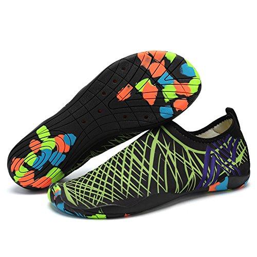 WERVOT Schuhe Unisex Strandsocken Schuhe Schnorchelschuhe Schwimmen Schuhe Wasserschuhe Strandschuhe Schnell Trocknend Schwimmschuhe Breathable rutschfest Aquaschuhe Surfschuhe