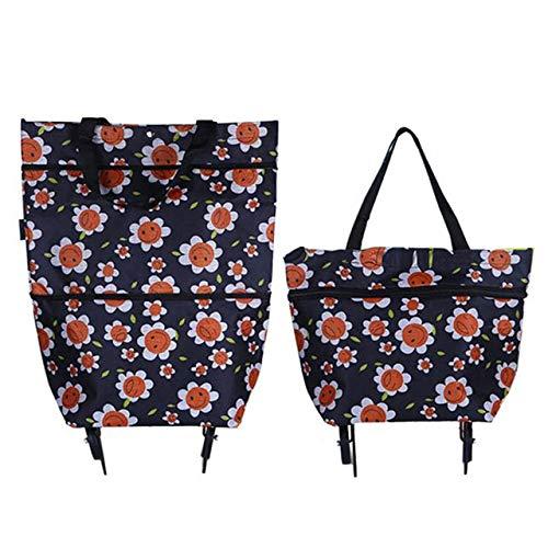 AGBFJY Shopping Bag pieghevole Carrello Carrello...