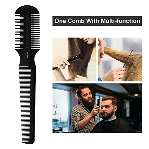 Hair Razor Comb, Sharp Hair Cutter Comb, Double Edge Razor Hair Cutting Comb for Thin and Thick Hair Trimming and Styling, 5 PCS Spare Blades Included