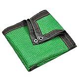 日よけの帆布の屋外の避難所の日曜日の網の純植物ペット陰カバー屋外設備および活動のための紫外線ブロックの生地 (Color : Green, Size : 2*6m)
