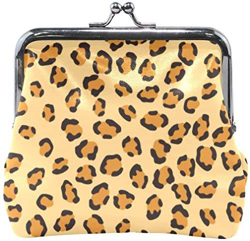 Keyboard cover Brieftasche Cheetah Leopard Skin Texture Druckmuster Münzgeldbeutel Beutel Lederwechselhalter Karte Clutch Handtasche