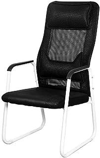 KEKEYANG Silla de Oficina Escritorio de Oficina Silla de la computadora Negro Ocio sillas Taburete con apoyabrazos ergonómicos Diseño Personal Computer (Color: Negro, Tamaño: 115X56CM) (Color: Negro,