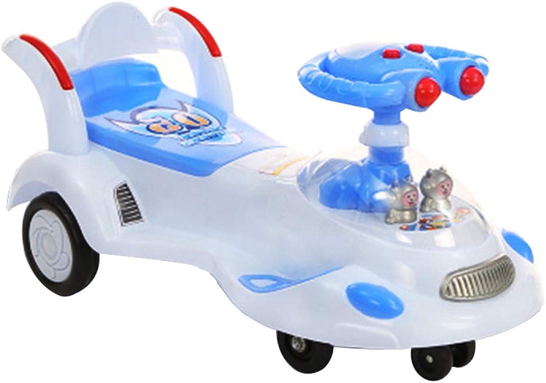 Kinder Twist Car 1-3-6 Jahre Alte Mnner Und Frauen Baby Universal Rad Yo Auto Mit Musik Swing Car Baby Roller Xuan - worth having (Farbe   Blau, Größe   Silent wheel)