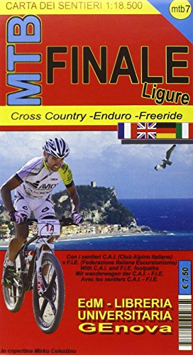 MTB Finale Ligure 1 : 18 500: Cross Country - Enduro - Freeride / mit Wanderwegen der C.A.I.-F.I.E.