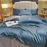 funda de edredón 90,La seda de seda de seda de seda de hielo de doble cara de primavera y verano se envuelve en la ropa de cama de cuatro piezas de lavado de agua-I_2.0 cama se establece 220 * 240 cm