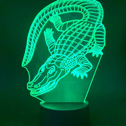 Crocodile Table Lamp Kids Gift Table Lamp Children Home Animal Crocodile Table Lamp Color Change 3D Table Lamp